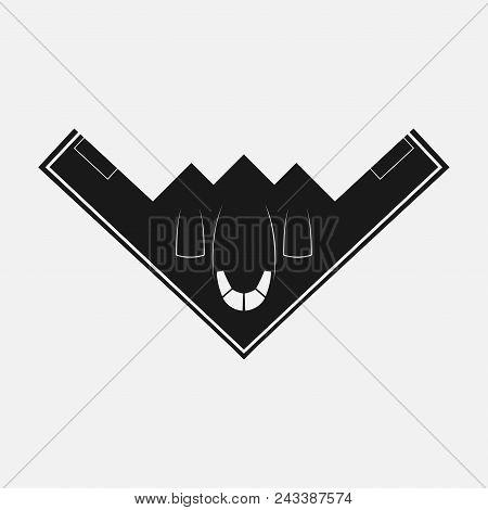 Stealth Bomber B-2. Bomber Aircraft Jet. Black B-2 Stealth, Spirit. Logo For U Web Site, Brand And A