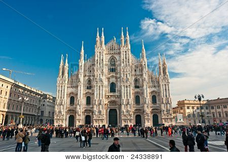 Milan - December 11: Tourists At Piazza Duomo On December 11, 2009 In Milan, Italy. As Of 2006, Mila