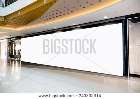 Large White Poster Mock Up.big Poster Billboard With Blank White Sheet,sale And Promotion Label Temp