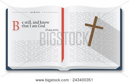 Best Bible Verses To Remember - Psalm 46:10. Holy Scripture Inspirational Sayings For Bible Studies