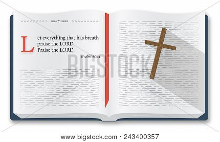 Best Bible verses to remember - Psalm 150:6. Holy scripture inspirational sayings for Bible studies and Christian websites, Bible illustration isolated over white background poster