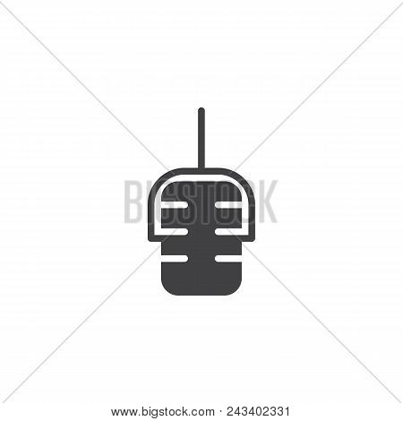 Microphone Vector Icon. Filled Flat Sign For Mobile Concept And Web Design. Mic Simple Solid Icon. V