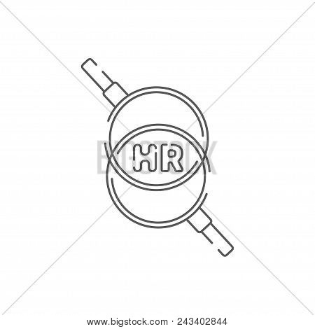 Icon Hr, Human Resources Line Logo, Recruiting Symbol, Career And Business, Modern, Flat Linear Huma