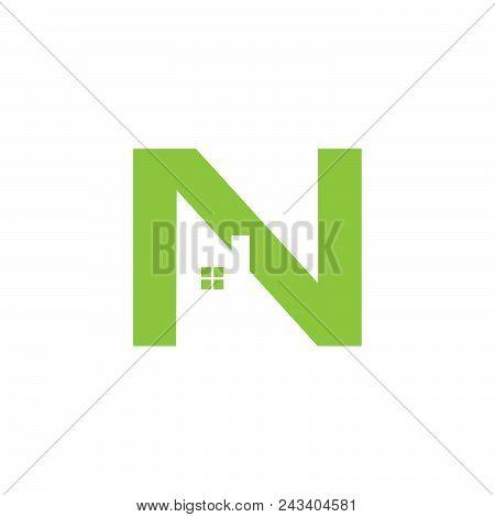 Letter N Abstract Home Repair Illustrator. Creative Home Logo Design Idea. Home Repair Services Icon