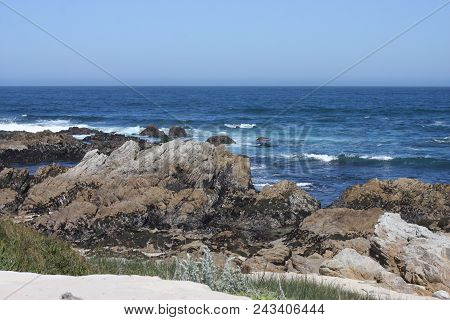 This S An Image Of The Coastline Of Pacific Grove, California Taken On A Warm Early Spring Day.