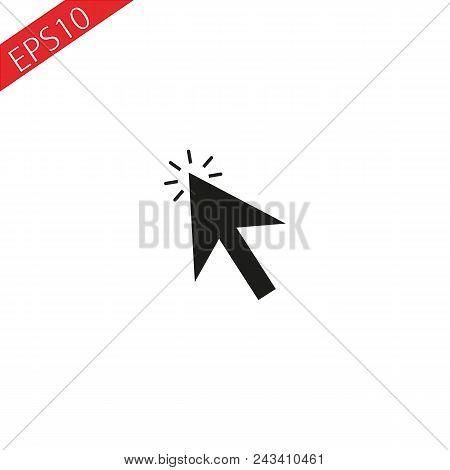 Arrow Pointer Or Click Button Vector Icon Of Arrow Web Cursor Pointer Clicking Eps 10.