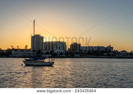 Sunrise Shoreline In St Kilda, The Inner Urban Suburb Of Melbourne.