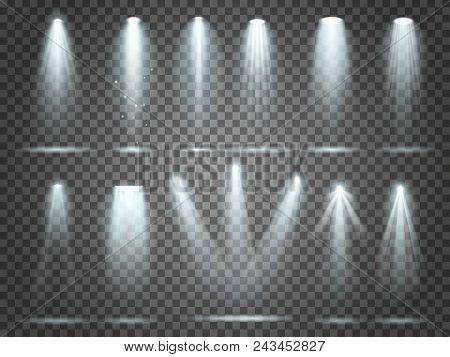 Beam Of Floodlight, Space Illuminators Lights Effects, Stage Illumination Spotlight. Night Club Part