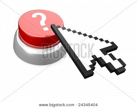 Red button with question mark
