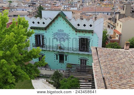 Girona, Spain - May 14, 2017: This Is An Art Nouveau House (casa Rigau) Built In The Early 20th Cent