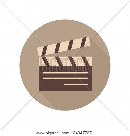 Movie Clapper Board Icon. Movie Clap. Sign And Symbol