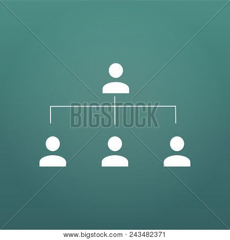 Organization Chart Infographic, People Icon, Hierarchy Pyramid Concept, Vector Illustration, For Pre