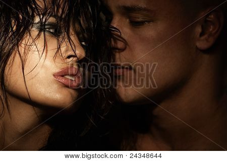 Emotional sexy scene - passionate embraces