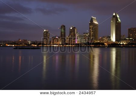 San Diego Downtown At Dusk