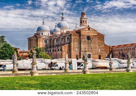 The Benedictine Abbey Of Santa Giustina, Facing The Square Of Prato Della Valle In The City Center O