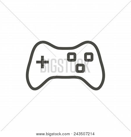 Game Icon Vector. Line Joypad Symbol Abstract Illustration Eps10. Graphic Background