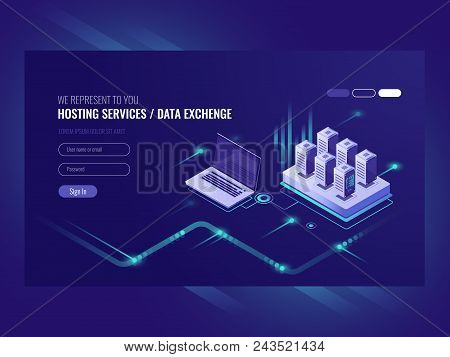 Web Sites Hosting Services, Server Room Rack, Data Center, Data Searching, Network Administration Is