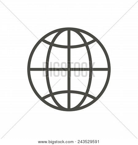 Web Icon. Line Internet Vector Abstract Illustration Eps10. Graphic Background Abstract Illustration