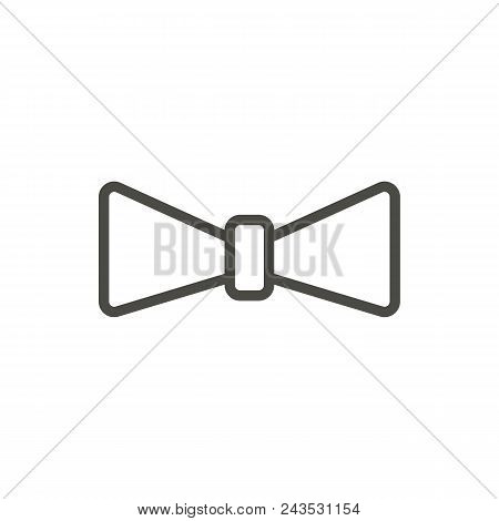 Bow Tie Icon Vector. Outline Necktie. Line Bowtie Symbol Abstract Illustration Eps10. Graphic Backgr