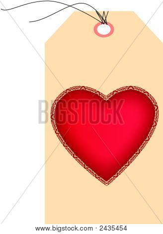 Saint Valentines Day Heart On A Pricetag