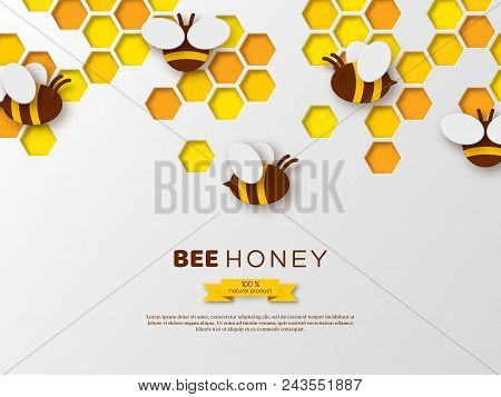 paper cut style bee vector photo free trial bigstock