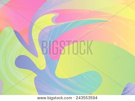 Abstract Colorful Pastel Background. Dynamic Effect Vector Illustration For Brochure, Web Banner, Fl