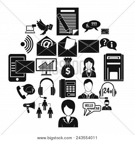 Interaction Icons Set. Simple Set Of 25 Interaction Vector Icons For Web Isolated On White Backgroun