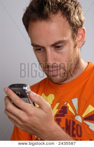 Young Man Texting