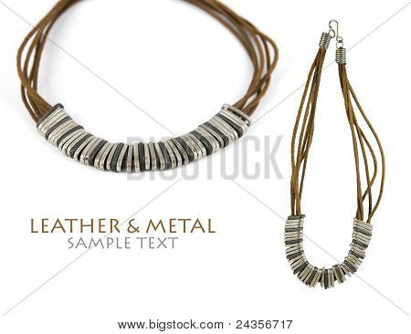 Leather & Metal Necklace
