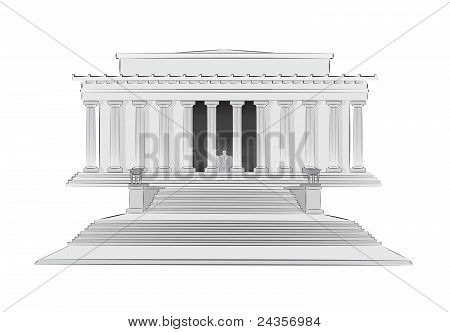 Lincoln memorial vector illustration