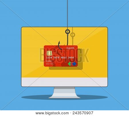 Internet Phishing And Hacking Attack Concept. Email Spoofing And Personal Information Security Backg