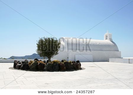 White Greek Church