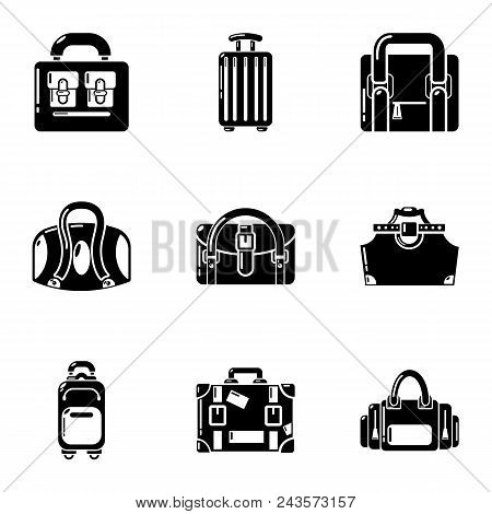 Reticule icons set. Simple set of 9 reticule vector icons for web isolated on white background poster