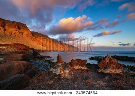 Seascape,cliffs Of Los Gigantes Seen From The Cape Of Punta Del Teno, Tenerife