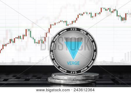 Verge (xvg) Cryptocurrency; Verge Coin On The Background Of The Chart