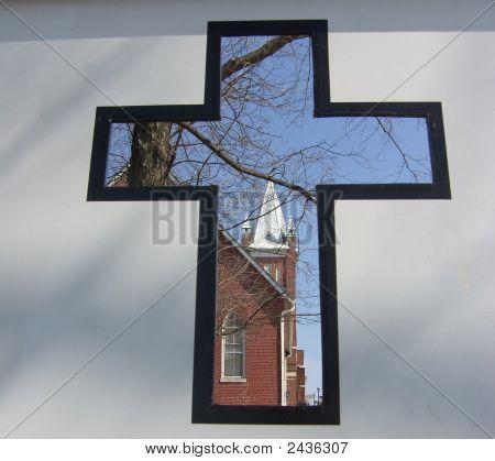 Steeple Through Cross
