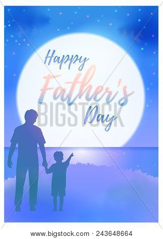 Father day greeting vector photo free trial bigstock father day greeting on night scenery bg m4hsunfo
