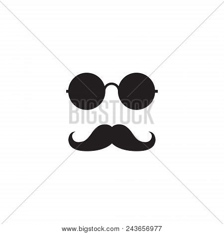 Glasses Mustache Logo Graphic Design Concept. Editable Glasses Mustache Element, Can Be Used As Logo