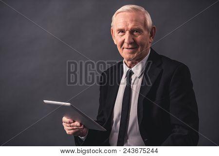 Handsome Old Businessman