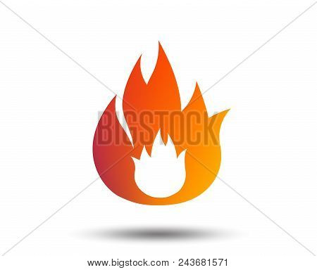 Fire Flame Sign Icon. Fire Symbol. Stop Fire. Escape From Fire. Blurred Gradient Design Element. Viv