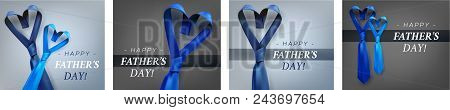 Fathers Day Heart Shaped Necktie Set.