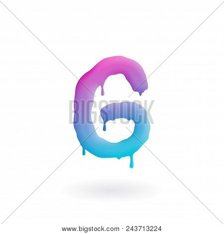 Letter G Logo. Colored Paint Character With Drips. Dripping Liquid Symbol. Isolated Vector