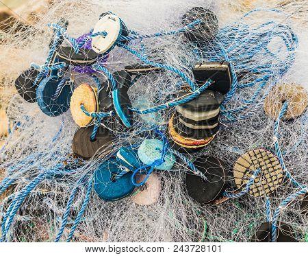 Home Made Fishing Net Made In Panama.