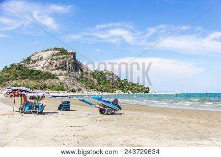 Jetski On The Beach In Thailand Of Holiday Season
