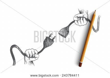 404 Error Page Not Found Concept. Hand Drawn Isolated Vector. 404 Error Page Not Found Concept. Hand