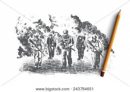 War Concept  Hand Vector & Photo (Free Trial) | Bigstock