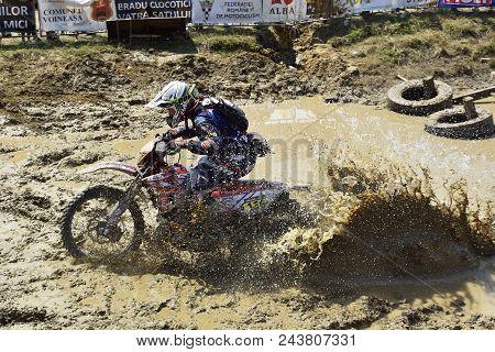 Sibiu, Romania - July 12 - 16 July: Copetitors In Red Bull Romaniacs Hard Enduro Rally With A Ktm Mo