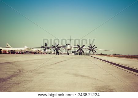 Engels, Russia - August 19, 2017: Day Of The Air Fleet. Military Aircraft At A Military Airfield On