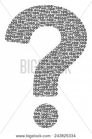 Question Mosaic Constructed With 100 Text Items. Vector 100 Texts Are Formed Into Research Combinati