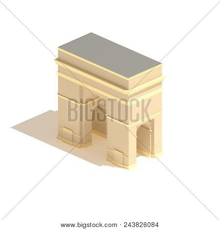 Isometric Arch 3d Illustration Isolated On White Background